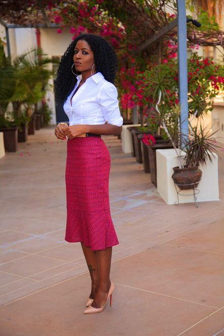 Como usar: saia rosa